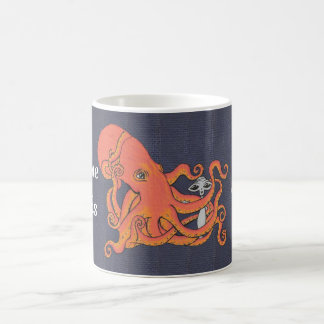 Octopus and Alien Everyone Needs a Hug Coffee Mug