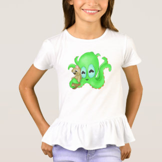 Octopus and Bear Girls Shirt (Customize Color!)