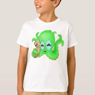 Octopus and Bear Kids Shirt (Customize Color!)