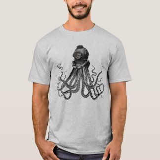 Octopus and Diving Helmet T-Shirt