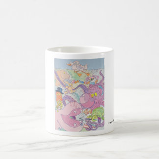 Octopus and friends classic white coffee mug
