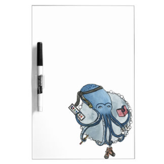 Octopus and his Hobbies Dry Erase Board