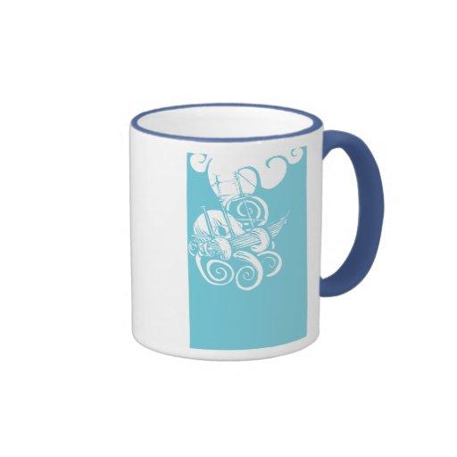 Octopus and Ship 2 Coffee Mug