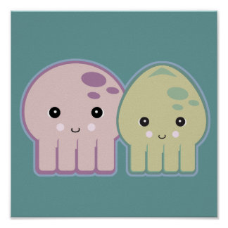 octopus and squid pals poster