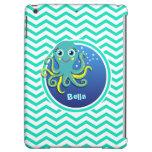 Octopus; Aqua Green Chevron Case For iPad Air