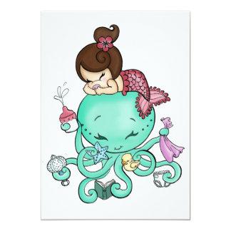 Octopus Babysitter Invite