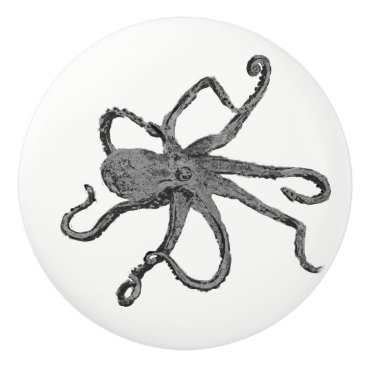 Beach Themed Octopus Beach Ceramic Knob