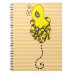 Octopus Bee Spiral Notebook