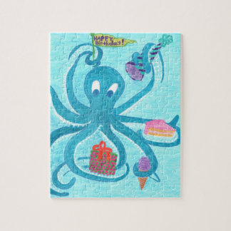 """Octopus Birthday 8""""x10"""" Puzzle (comes in Tin Box)"""