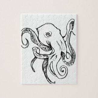 Octopus BLACK Jigsaw Puzzle