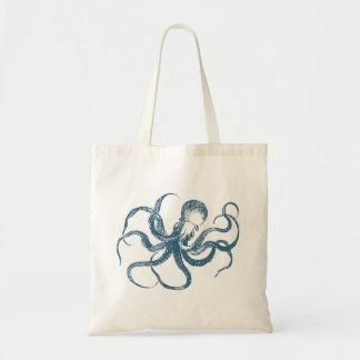 octopus_blue budget tote bag