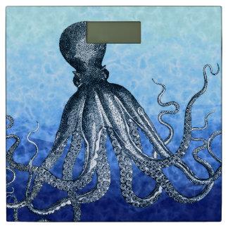 Octopus Blue Ocean Water Bathroom Scale