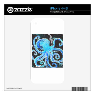 Octopus bubbles decal for the iPhone 4S