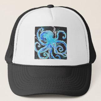 Octopus bubbles trucker hat