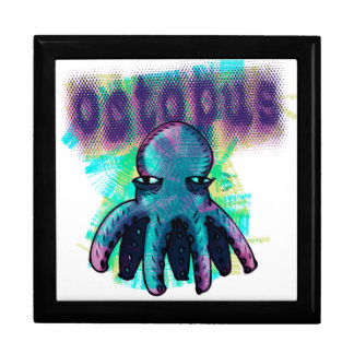 octopus cartoon style keepsake box