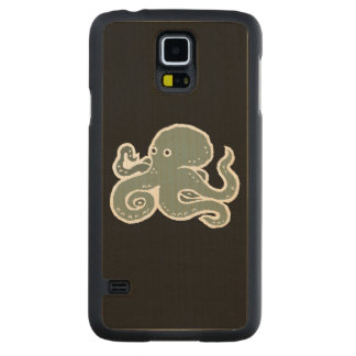 Octopus Carved Maple Galaxy S5 Slim Case