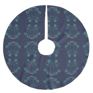 Octopus Cephalopod Tentacles Brushed Polyester Tree Skirt