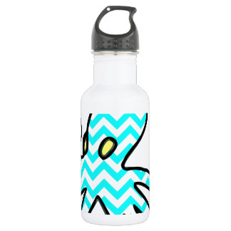 Octopus Chevron - light blue Stainless Steel Water Bottle