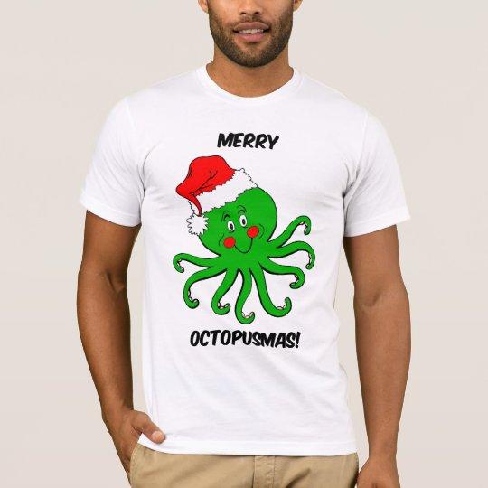 Octopus Christmas T-Shirt