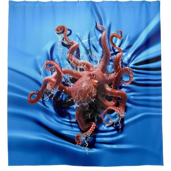 Octopus Climb Shower Curtain