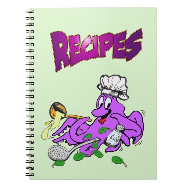 Octopus Cook Recipe Photo Notebook