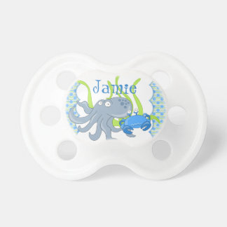 Octopus Crab Under the Sea Baby Boy Pacifier