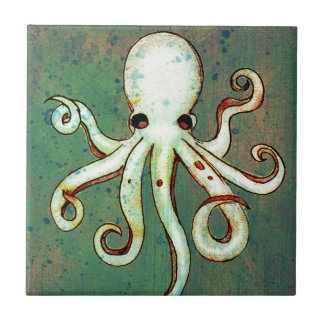 Octopus Cthulhu Ceramic Tile
