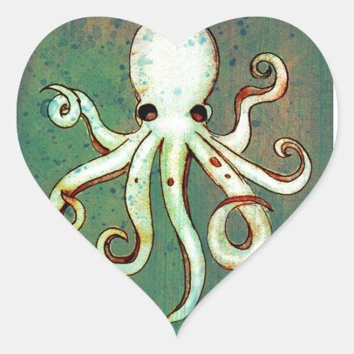 Octopus Cthulhu Heart Sticker