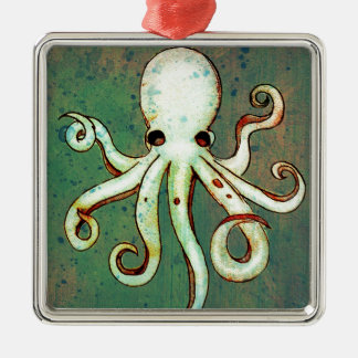 Octopus Cthulhu Metal Ornament