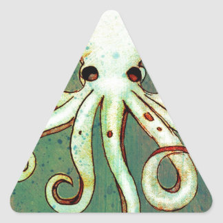 Octopus Cthulhu Triangle Sticker