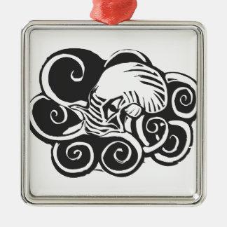 Octopus- Cthulu Metal Ornament