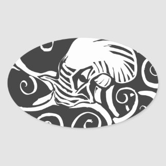 Octopus- Cthulu Oval Sticker