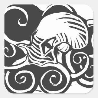 Octopus- Cthulu Square Sticker