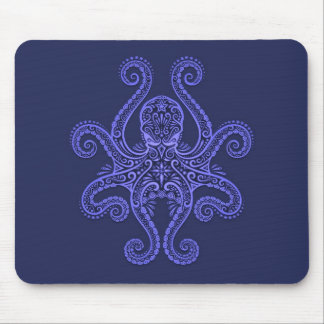 Octopus Design (blue) Mouse Pad