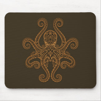 Octopus Design (brown) Mouse Pad
