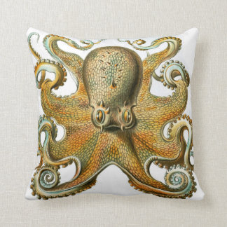 Octopus design by Ernst Haeckel, circa 1904 Throw Pillow