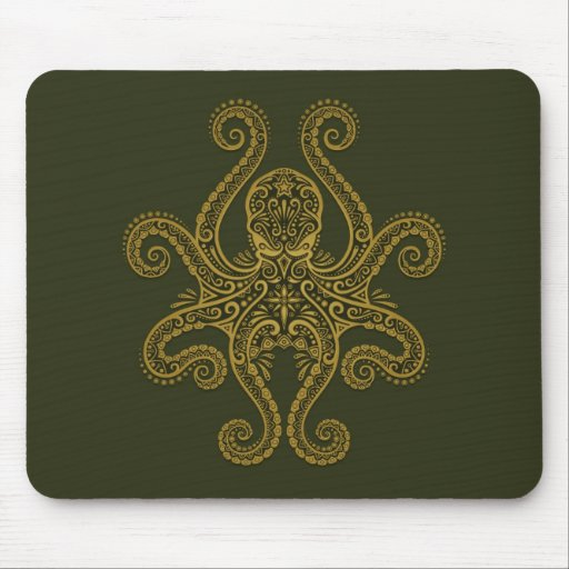 Octopus Design (green) Mouse Pad