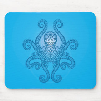 Octopus Design – light blue Mouse Pad