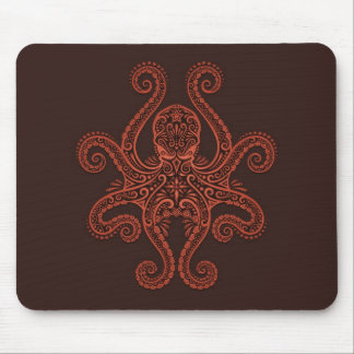 Octopus Design (red) Mouse Pad