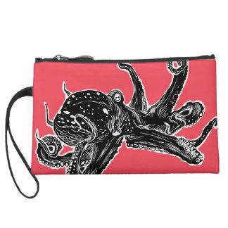 Octopus Design Wristlet Bag