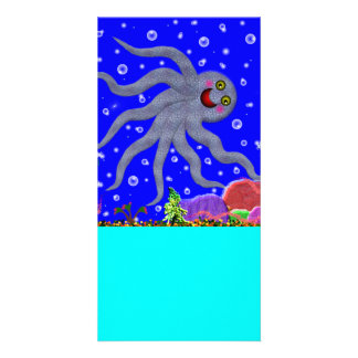 Octopus Designed Book Mark Card