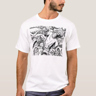 Octopus drinking Coffee T-Shirt