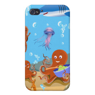 Octopus Family & Friends -  Cases For iPhone 4