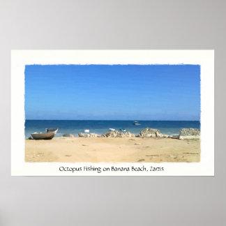Octopus Fishing Banana Beach Zarzis Tunisia Poster