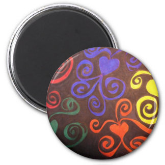 Octopus Hearts 2 Inch Round Magnet