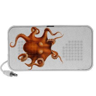 Octopus Illustration Mp3 Speakers