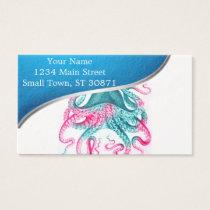 Octopus illustration - vintage - kraken business card