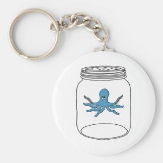 Octopus in a Jar Basic Round Button Keychain