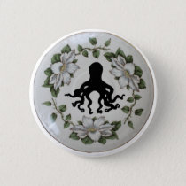 Octopus in a Teacup Pin Badge Button