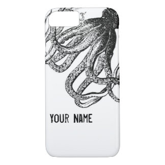 Octopus in Black and White iPhone 8/7 Case